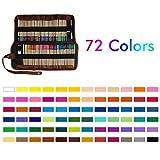 HONGFAGO 72 colors Buntstifte Zeichenstifte Set mit Tasche Brillanten Farben Bleistift Set...
