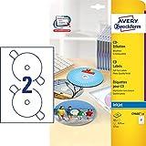 AVERY Zweckform C9660-25 selbstklebende CD-Etiketten (blickdichte CD-Aufkleber,  117 mm SuperSize,...