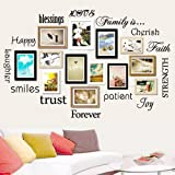 Family Wandtattoo decal-classic-set von 12 Family Words Zitat Familie Wand Aufkleber Bild Wand...