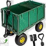 Kesser Bollerwagen 550kg belastbar Transportwagen Gartenwagen Gartenkarre herausnehmbare Plane...