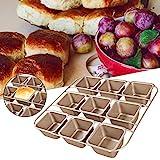 Cuttey Schwerer Kohlenstoffstahl Brownie Backform Backform Antihaft Muffin Backformen Brotbackform...