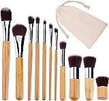 VOANZO 11 stücke Make-Up Pinsel Set Natürliche Bambus Weiche Synthetische Make-up Pinsel Set...