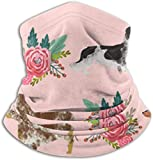 qinxianyuantuonong Dachshund Floral Cute Dogs Ski Mask Cold Weather Face Mask Neck Warmer Fleece...