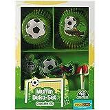 Decocino Muffinset Fußball | HOCHWERTIGE Fußball Muffin Deko von DEKOBACK | Deko für...