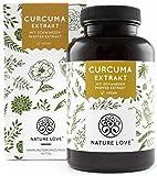 NATURE LOVE Curcuma (Kurkuma) Extrakt Kapseln. 4500mg Kurkuma, Piperin und Curcumin 95% (entspricht...
