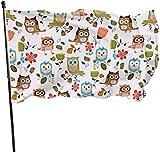 LZHANDA Garten Flaggen Viplili Flagge Fahne, Seasonal Owl Animal Garden Flag, Demonstration Flag - 3...