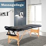 Mobile Massageliegen Massagetisch Massageliege Faltbar Massagebett mit 2 Zonen tragbaren Klappbar...