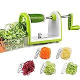 Bonsenkitchen Gemüse Spiralschneider, Gemüseschneider 5 Klingen-Spiralschneider für...