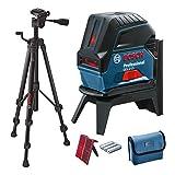 Bosch Professional Kreuzlinienlaser GCL 2-15 (3x AA Batterien, Laserzieltafel, Schutztasche, Einlage...