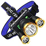 Gaodpz Kopf lose USB aufladbare Stirnlampe Raincoat integrierten Batterien LED Sicherheits...