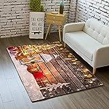 KFEKDT Cartoon Schlafzimmer Kinderspielmatte Teppich Weichen Flanell Urlaub Geschenk Bereich Teppich...