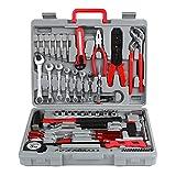 FIXKIT Werkzeugset im Koffer Werkzeugkoffer Werkzeugkasten für den Haushaltsbereich...