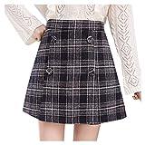 FIRMON Damen Figurbetonter Minirock Fashion Hohe Taille Plissee Kurze Rock Slim Taille Casual...