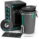 Coffee Gator Edelstahlbehlter Kaffeedose  Mit CO2-Ablassventil, magnetischem Lffel und...