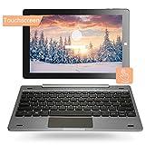 10.1'' Windows 10 Home Tablet PC 2-in-1 Touchscreen Mini Laptop mit Abnehmbarer TastaturIntel Quad...