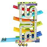 Tyueliang-Toy Lernen Holzspielzeug Learners Aktivität Cube Mini Cars Parkplatz-Race Track Kids Car...