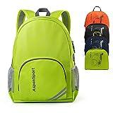 ASPEN Aspensport Leichter Faltbarer Rucksack Packable kleine Reise Wandern Daypack mit USB-Anschluss...