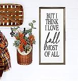 """Atwo3242de Dekoschild """"I Love Fall Most of All Herbst"""" mit verwitterter Holzverzierung,..."""