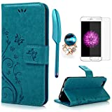 iPhone 6 / 6S Hlle (4,7 Zoll) Wallet Case Flip Hlle YOKIRIN Schmetterling Blumen Muster Schutzhlle...