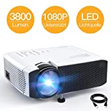 Beamer APEMAN Mini Beamer 3800 Lumen 1080P Full HD Untersttzt Aktualisierte Tragbar Projektor LED...