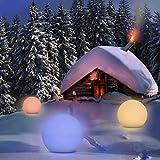 Solarlampen für Außen, Homever Solarleuchte Garten 12in Mit 9 Farbwechselmodi,Wasserdicht für...
