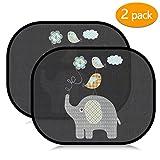Acelife Auto Sonnenshutz Baby 2 Stück, Auto Sonnenblende mit UV Schutz, Universal Selbsthaftende...