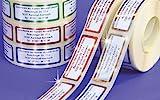 ADRESS-AUFKLEBER mit Wunschtext, Metallic-blau | 500 schöne geprägte Adress-Etiketten |...