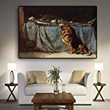 Geiqianjiumai Britische Vintage Bild Poster und Drucke Wohnzimmer Wandbild Leinwandbild rahmenlose...
