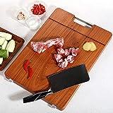 DYOYO Premium Schneidebrett aus Bio Bambus Schneidebrett Ideal für Fleisch, Gemüse und Käse...