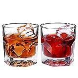 VATRIO Scotch Gläser, Whisky-Glas, 2Er-Set Bourbon Gläser, Schwer Einzigartiges Rock Glas Hand...