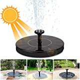 iKALULA Solar Springbrunnen, Solar Teichpumpe Outdoor Wasserpumpe Solar Pumpe Springbrunnen...