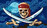 flaggenmeer Flagge Pirat Fluch der Meere 80 g/m ca. 90 x 150 cm