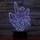 Nachtlicht kristall 3d led lampe licht usb abstrakte nachtlicht bunte lava lampe für hochzeitsdekor...