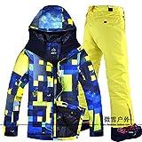 JJZZ Skibekleidung für Herren Warme Herren Skijacke Hose Snowboard Bekleidung Hose Winddicht...