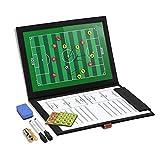 GHB Professional Fußball Coach-Board Taktikmappe Coach-Mappe mit 2X Stifte, Radiergummi, 24er...