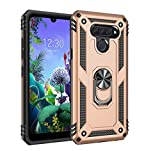 Kompatibel mit LG Q60 Schutz LG K50 Hart Hülle Rüstung Magnetische Autohalterung Handyhülle...