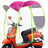 GFYWZZ Motorrad Roller Regenschutz Motorrad Elektro Sonnenschutz Fahrzeug Regenschirm Regenmantel...