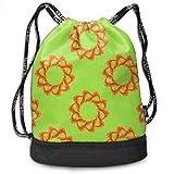 DSGFSQ Sporttaschen Turnbeutel Funny Dance Gift Unisex Drawstring Fashion Beam Backpack Shrimp Group...