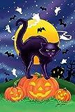 jiaxingdalin Hausgarten-Schwarze Katzen-dekorative Halloween-Miezekatze-Kürbis-Garten-Flagge