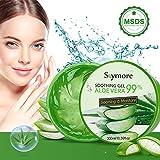 Skymore 300ml Aloe Vera Gel, Natürliche Aloe Vera Creme für trockene Haut, After sun gel,...