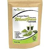 Bio Weizengras Pulver (200 Gramm), MySuperFoods, Zertifiziertes Bio, Quelle für Vitamin E, Kalzium,...