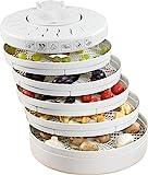 Clatronic DR 2751 Dörrautomat (250 Watt, trocknet Obst, Gemüse, Kräuter, Fleisch und mehr, 5...