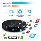Android 9.0 TV-Receiver, 4K WiFi Smart TV Box Apps Fast Set-Top-Box 2G + 32G Media Player,EU2G+16G