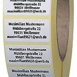 Adressetiketten mit Wunschdruck 100 Stck 40 x 20 mm Haftpapier wei