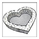 Kiesknig Herz Gitter Grabschmuck Grabgestaltung Pflanzschale 8 cm Hoch mit Zierkies