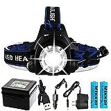 T6 Led Scheinwerfer Zoomable Dropshipping Scheinwerfer wasserdichte Stirnlampe Taschenlampe...