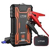 UTRAI Auto Starthilfe Anlasser Powerbank 16000mAh 1600A Spitzenstrom Tragbare Starthilfe Auto für...