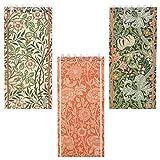 William Morris Notizblock, lang, spiralförmig, 3 Stück
