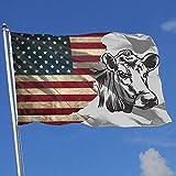 Elaine-Shop Outdoor Flags USA Flagge Kuh Clip Art 4 * 6 Ft Flagge für Wohnkultur Sport Fan Fußball...