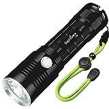 Starkes Licht Taschenlampe, Haushaltsbeleuchtung 26650 wiederaufladbare LED-Leuchten,...